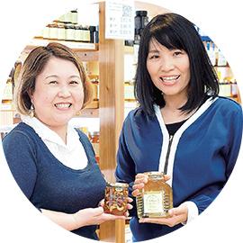 有限会社西澤養蜂場 WEB通販部門 地田 美鈴さん、信時 里香さん